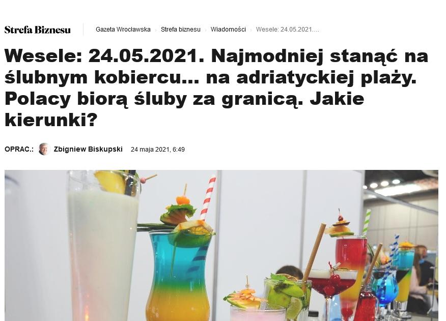 Screenshot_2021 05 25 Wesele 24 05 2021 Najmodniej Stanąć Naślubnym Kobiercu NaAdriatyckiej Plaży Polacy Biorą śluby ZaG[...]