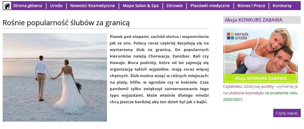 Screenshot 2021 06 09 At 18 00 56 Rośnie Popularność ślubów ZaGranicą